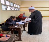 خالد الجندي يدلى بصوته فى الاستفتاء على التعديلات الدستورية