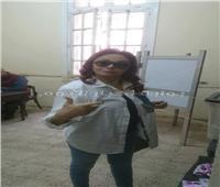 نبيلة عبيد تشارك في الإستفتاء الدستوري بـ «اعمل الصح»