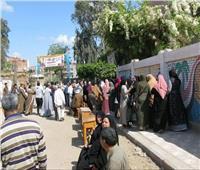 إقبال متزايد من المواطنين على لجان الاستفتاء بالشرقية