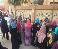 إقبال كثيف من المواطنين بلجان مدرسة الصفا والمروة على التعديلات الدستورية