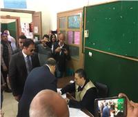 التعديلات الدستورية 2019  وزير التنمية المحلية يدلي بصوته في مصر الجديدة
