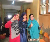 التعديلات الدستورية 2019| السيدات تتصدر مشهد الاستفتاء في الهرم.. صور
