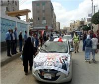 أجواء احتفالية أمام لجان الاستفتاء على الدستور في كفر الشيخ