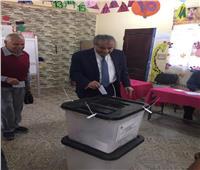 التعديلات الدستورية 2019| لحظة إدلاء وزير التموين بصوته في الاستفتاء