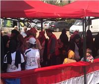 وفد من الهلال الأحمر لتأمين الناخبين في شبرا