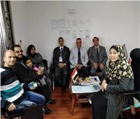 تصويت المصريين في الخارج  وفد التنمية المحلية يدلون بأصواتهم في الصين