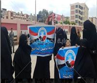 سيدات حزب النور من أمام لجان الإسكندرية: «نعم للتعديلات الدستورية»