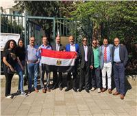 صور  الجالية المصرية بهولندا تشارك في الاستفتاء على التعديلات الدستورية