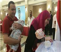 بالصور| أول توأم من حديثي الولادة في الاستفتاء بجدة