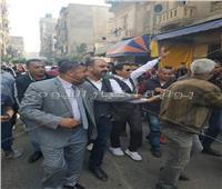 صور| أحمد شيبة يقود مسيرة شعبية للمشاركة في الاستفتاء بالإسكندرية