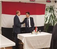 صور| السفير والقنصل المصري يستقبلون الناخبين المصريين بنيويورك
