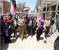 التعديلات الدستورية 2019| «تعليم أبو النمرس» تنظم مسيرة لحث المواطنين على الاستفتاء