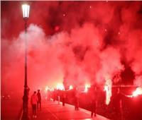 فيديو| احتفالات جنونية في شوارع سالونيكي قبل حسم باوك للدوري