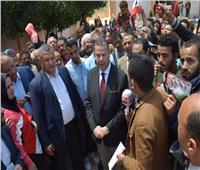 التعديلات الدستورية 2019| جولة ميدانية لمحافظ بني سويف لمتابعة الاستفتاء