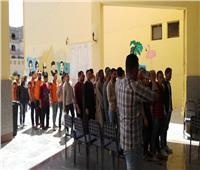 مسيرة حاشدة بالطبل والمزمار لتأييد الاستفتاء في مركز الحسينية بالشرقية