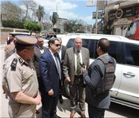مساعد وزير الداخلية لغرب الدلتا ومدير الأمن يتفقدان لجان الاستفتاء بدمنهور