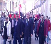 مسيرة حاشدة للعاملين بديوان محافظة الدقهلية