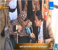 شاهد|أكبر معمرة ببورسعيد: «من غير السيسي مننفعش ببصلة»