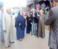 محافظ المنوفيه يتفقد لجان الاستفتاء بمركز الشهداء