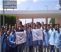طلاب وردان ينظمون مسيرة في حب مصر أمام اللجان الانتخابية