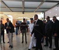 مدير أمن المطار يتفقد لجنتي الاستفتاء بالصالات في اليوم الأخير للاستفتاء