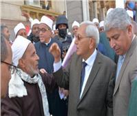 التعديلات الدستورية 2019| محافظ الدقهلية يقوم مسيرة لعلماء الدين