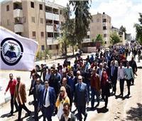 التعديلات الدستورية 2019| شوشة يشارك في مسيرةجامعة العريش للمشاركة بالاستفتاء