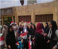 سيدات الشرقية أمام اللجان للمشاركة في الاستفتاء