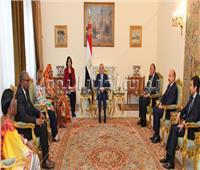 السيسي: مصر تسعى للارتقاء بحقوق الإنسان ومحاربة الإرهاب