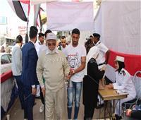 إقبال كثيف على لجان الاستفتاء بمدينة نصر