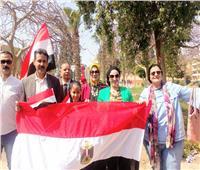 مسيرة من الأهالي تجوب شوارع ٦ أكتوبر لحث المواطنين على المشاركة