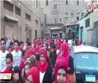 فيديو| مسيرة ضخمة لدعم المشاركة في الاستفتاء ببولاق