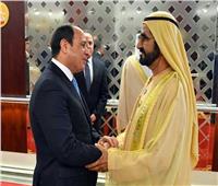 الرئيس السيسي يستقبل في مقر إقامته ببكين الشيخ محمد بن راشد