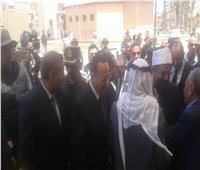 لحظة وصول وزير الأوقاف ووزير الشباب والرياصة إلى شمال سيناء