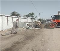 رفع ٦٠٠ طن من المخلفات بحي شرق شبرا الخيمة
