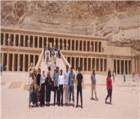 جامعة أسيوط تنظم رحلة سياحية لطلاب داغستان إلى الأقصر