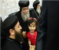 صور  توافد الأقباط على كنائس المنيا وسط إجراءات أمنية مشددة