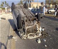 مصرع وإصابة 5 من أسرة واحدة في حادث انقلاب سيارة بالبحيرة