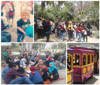 صور| 7 مشاهد تميز احتفالات المصريين بشم النسيم في حديقة الحيوان