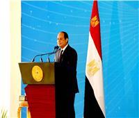 الرئيس السيسي: مصر عبرت مرحلة عصيبة..والأمملا تبنىإلا بمجهود أبنائها