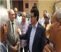 وزير الشباب يتفقد الصالة المغطاة بمدينة الغردقة