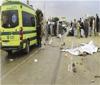 مصرع وإصابة 4 أشخاص في حادث تصادم بطريق بني سويف