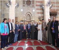 صور  افتتاح مسجد «فاطمة الشقراء» بعد ترميم مئذنته