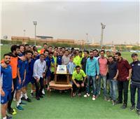 صور.. بيراميدز يحتفل بعيد ميلاد الصقر أحمد حسن