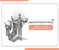 إنفوجراف| 7 خطوات اتخذتها وزارة التعليم للنهوض بالتعليم الفني