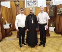 بطريرك الأقباط الكاثوليك يستقبل الأب توماس مارفيك الرئيس العام للرهبنة اللعازرية