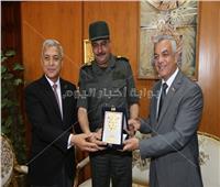 محافظ المنوفية ورئيس الجامعة يستقبلان اللجنةالطبية للتجنيد