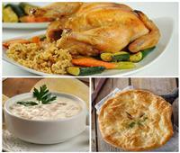 فطارك عندنا | دجاج محشي أرز وشوربة دجاج بالكريمة