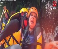 شاهد| «فيفي عبده» تعتدي على «رامز جلال» بوابل من الشتائم