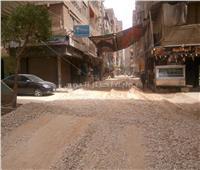 تطوير الطرق ورصف الشوارع الداخلية بشبرا الخيمة